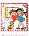Freebie printable digital retro Valentine
