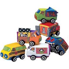 $34.99 - Zoom Zoom Vehicles features 6 soft, surface-washable cars with lots of peek-a-boo windows and doors and plastic axels at the wheels so they roll when pushed by small or big hands. These vehicles are more than push toys, they are great learning toys!rVEHICLES 4.5 X 2.5rVINYL BAG DIMENSIONS: 14 X 4 X 8.5Like cars? See ?em all here!