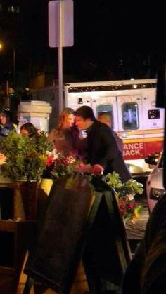 Stana And Nathan on set for #Castle!