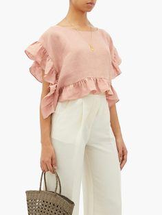 Blouse Styles, Blouse Designs, Modest Fashion, Fashion Dresses, Motif Vintage, Stylish Shirts, Linen Dresses, Peasant Dresses, Baby Dresses