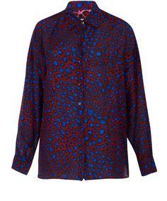 Paul Smith Mainline Purple Leopard Print Oversize Shirt | Women's Shirts | Liberty.co.uk