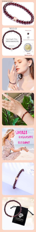 Elegante Frauen Dame natürlicher Granats Korn Armband verschiedene