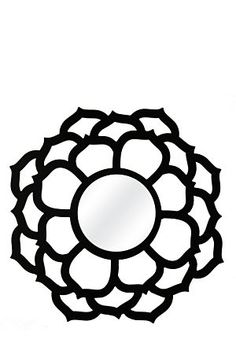 """This fretwork geometric patterned mirror will add interest to your living space. Measures 60cm diameter.<div class=""""pdpDescContent""""><BR /><b class=""""pdpDesc"""">Dimensions:</b><BR />L60 cm</div>"""