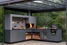Outdoor Kitchen Patio, Outdoor Kitchen Design, Outdoor Rooms, Backyard Patio, Outdoor Living, Outdoor Decor, Küchen Design, House Design, Back Garden Design