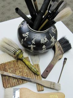 Sumi-e brushes