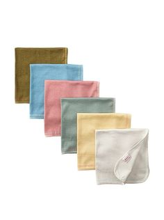 Petites Frites Six Burp Cloth Set, Cornwall at MYHABIT