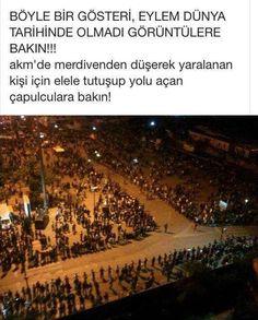 Taksim Gezi Parkında dayanışma
