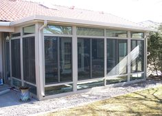This sunroom is nice. You can make the top/bottom windows a material that's pretty nice. TEMO Sunroom