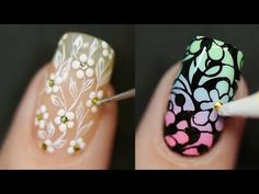 New Nail Art 2018 💄😱 The Best Nail Art Designs Compilation Here are some of the most beautiful nails art designs you can try at home Website Link: https:. Pretty Nail Colors, Pretty Nail Designs, Simple Nail Art Designs, Best Nail Art Designs, New Nail Art, Easy Nail Art, Cool Nail Art, Dreamcatchers, Nail Design Video