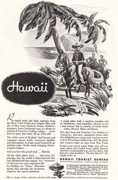 1934 Hawaii Tourist Bureau