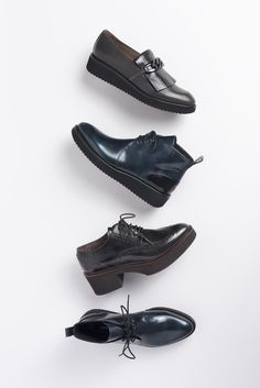 Zinda shoes for Fall-Winter 2015/16. Booties, moccasins & loafers. Slightly masculine with new mix of materials.