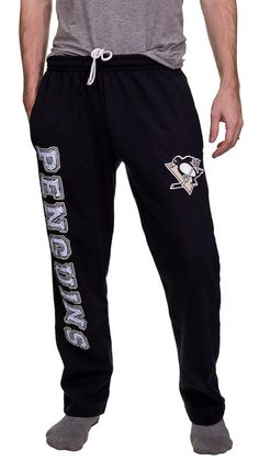 Pittsburgh Penguins Fleece Sweatpants Nhl Apparel, Mens Sweatpants, Gifts For Your Boyfriend, Pittsburgh Penguins, Stylish, Athletes, Team Logo, Travelling, Running