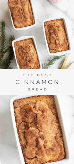 An easy Cinnamon Bread Recipe that is perfect for breakfast, snacks and gifting to friends, neighbors and co-workers! This Christmas bread makes a beautiful gift wrapped into inexpensive giftable loaf pans. #cinnamon #bread #quickbread #recipe #christmas #brunch Christmas Bread, Christmas Cooking, Holiday Bread, Neighbor Christmas Gifts, Fall Recipes, Sweet Recipes, Holiday Recipes, Easy Christmas Baking Recipes, Just Desserts