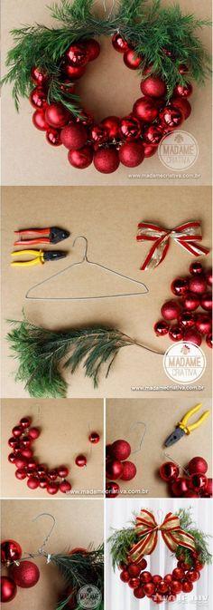 Pomysł na świąteczny wieniec