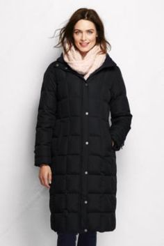 Women's Down Chalet Long Coat from Lands' End