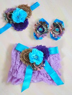 Baby Bloomer,Lilac Lavender Turquoise Ruffle Diaper Cover,Photo Prop bow,Tan Newborn Lace Diaper cover,Violet Newborn Bloomer Set,baby gift