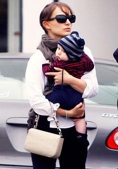 Natalie's Tiny Dancer Natalie Portman took her newborn son Aleph shopping at a baby store in Hollywood Thursday.