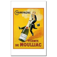 """GreatBigCanvas """"Champagne Vicomte De Moulliac"""" by Art Licensing Canvas Wall Art – The Home Depot 'Champagne Vicomte De Moulliac' by Art Licensing Canvas Wall Art, Multi-Color Vintage Champagne, Vintage Wine, Vintage Labels, Vintage Ads, French Vintage, Vintage Food, Champagne Images, Rose Champagne, French Wine"""