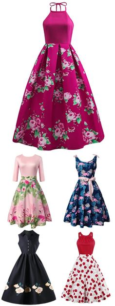 Up to off, Rosewholesale floral vintage dress for women Pretty Outfits, Pretty Dresses, Beautiful Dresses, Pretty Clothes, Vintage Style Dresses, Vintage Outfits, Dress Vintage, Vintage Floral, Retro Fashion