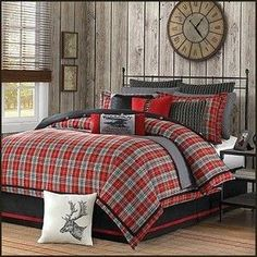 lodge cabin log cabin themed bedroom decorating ideas - moose fishing camping hunting lodge bedrooms for boys - decorating lodge style northwood wild animals woods theme bedrooms - rustic style home decorating - black bear decor - moose decor - cabin deco