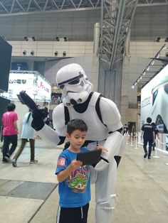 My older son at Tokyo Game Show