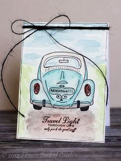 Houses Built of Cards: Watercolor VW Bug - Unity FWF