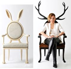 "Most. Fabulous. Chairs! Artist Merve Kahraman, ""Hybrid"" chairs. Thanks to Bobbie Thomas, NBC Style Show editor for posting on her Facebook page for Pinterest fans to pick up!"