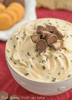 Tagalong Dip | A heavenly, creamy chocolate and peanut butter dessert dip