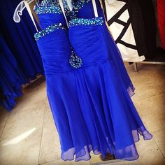 A stunning royal blue dress from Penelope Boutique for a formal event!