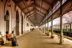Maputo Railway Station, Moçambique by Michael Morris Maputo, World Photography, Travel Photography, Michael Morris, Train Platform, Train Tracks, Africa Travel, Continents, Travel Inspiration