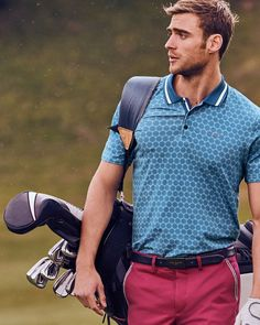 Large spot print polo shirt - Blue | Tops and T-shirts | Ted Baker UK