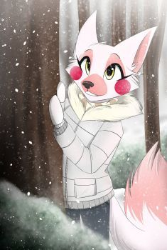 2017 absurd_res anthro canine clothed clothing female five_nights_at_freddy's fox funtime_foxy_(fnaf) fur hi_res mammal mangle_(fnaf) snow solo tree video_games white_fur winter Fnaf Drawings, Easy Drawings, Five Nights At Freddy's, Cartoon Style, Foxy And Mangle, Fnaf Wallpapers, Fnaf Characters, Funtime Foxy, Fnaf Sister Location