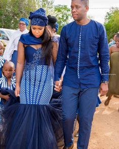 Spiffy Fashion shweshwe attire for African women - South African Wedding Dress, African Bridesmaid Dresses, African Traditional Wedding Dress, Traditional African Clothing, African Wedding Attire, African Attire, African Dress, Couples African Outfits, African Fashion Dresses