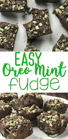 This Easy Oreo Mint Fudge is perfect for Saint Patricks Day.