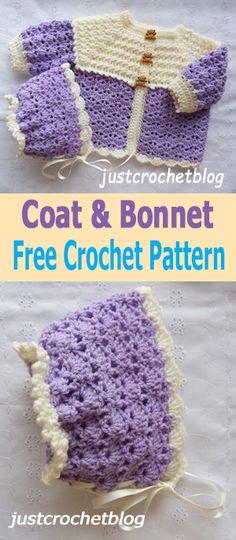 Crochet sweet two piece free baby crochet pattern, #justcrochetblog #freecrochetbabypatterns