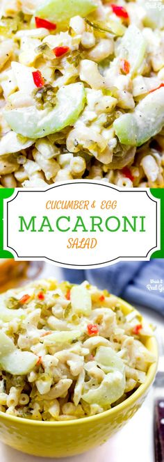 This creamy macaroni salad has nontraditional crunchy cucumbers with traditional hard boiled eggs and sweet relish. Delicious! No tons of chopping here. This recipe is super simple and quick to make! Perfect for your end of summer backyard barbeque!