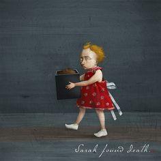 Sarah Found Death by wonil, via Flickr Interactive Art, Illustration Art, Illustrations, Art Director, Art World, Figurative Art, Whimsical, Childhood, My Arts