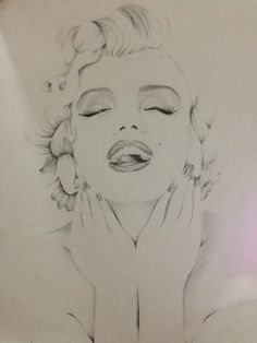 Marilyn Monroe by juliaapretti  | This image first pinned to Marilyn Monroe Art board, here: http://pinterest.com/fairbanksgrafix/marilyn-monroe-art/ || #Art #MarilynMonroe
