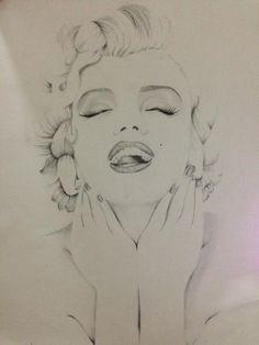 Marilyn Monroe by juliaapretti | This image first pinned to Marilyn Monroe Art board, here: http://pinterest.com/fairbanksgrafix/marilyn-monroe-art/ || #Art #MarilynMonroe