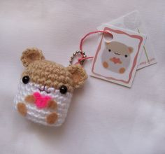 Crochet Hamster Key Chain