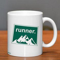 Colorado Runner Ceramic Mug - Show off your pride for Colorado with this great Colorado Runner Ceramic Coffee Mug.