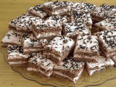 Připravte si fantastické čokoládové řezy s vanilkovým pudinkem – mají úžasnou chuť a jednoduchou přípravu! Tiramisu, Cereal, Cooking Recipes, Breakfast, Food, Diy Wreath, Morning Coffee, Crown Flower, Chef Recipes