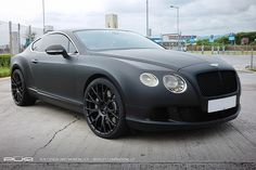 Bentley Continental GT in Matte Black on PUR Wheels