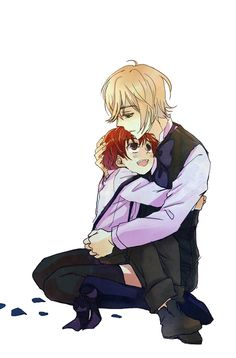 Alois & Luca {Kuroshitsuji II} This makes me wanna cry :') Its so adorable.