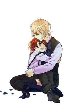 Alois & Luca {Kuroshitsuji II} This makes me wanna cry :') Its so adorable.