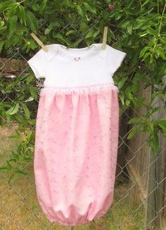 Baby girl layette gown newborn coming home gown by MarysSewPretty, $20.00
