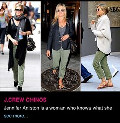 Olive pants/Jennifer Aniston