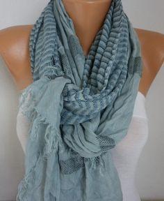 Gray Cotton Tartan Scarf,So soft,winter shawl,Plaid Men Scarf, Cowl,Gift Ideas for her him,fashion accessories http://etsy.me/2ErLlHR #accessories #scarf #valentinesday #birthday #shawl #scarvescarf #cowlscarf #fatwomanscarf #menscarf #fashion