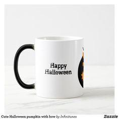 Cute Halloween pumpkin with bow