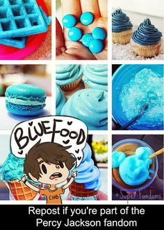 Blue food! Repost if your part of da fandom